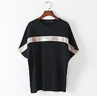 FINDSENSE品牌 春季新款 時尚簡約 男士 貼條 蝙蝠袖 寬鬆T恤 特色短T