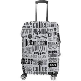 新聞 レトロ 白黒印刷 スーツケースカバー 保護カバー キャリー お荷物カバー キャリーバッグ 19~32インチ対応 伸縮素材 防塵カバー ラゲッジカバー 着脱簡単 バッグカバー 紛失防止