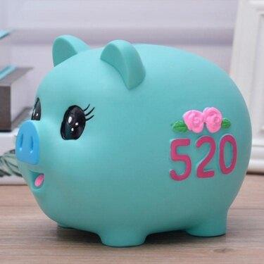 小豬防摔存錢罐兒童硬幣儲蓄罐卡通搪膠儲錢罐男女豬年新年禮物品 全館八八折