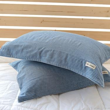 純棉紗布枕巾條紋枕巾加大特價柔軟全棉情侶親膚枕頭巾一對裝  居家物語 全館八五折