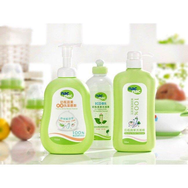 麗嬰兒童玩具館~nacnac-奶瓶蔬果酵素洗潔慕斯.補充包(600ML)