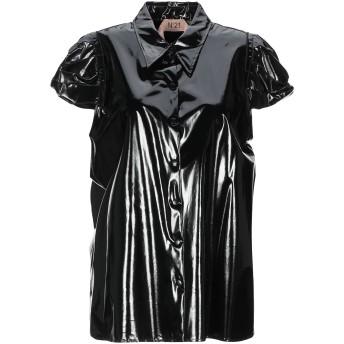 《セール開催中》N°21 レディース シャツ ブラック 44 シルク 100% / ポリウレタンコート