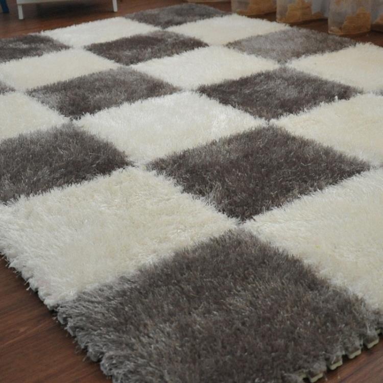 拼接絨面地毯拼圖泡沫地墊臥室滿鋪地板墊子榻榻米 領券下定更優惠