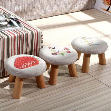 換鞋凳矮凳實木腳凳小凳子圓凳布藝板凳沙發凳茶幾凳  聖誕節禮物