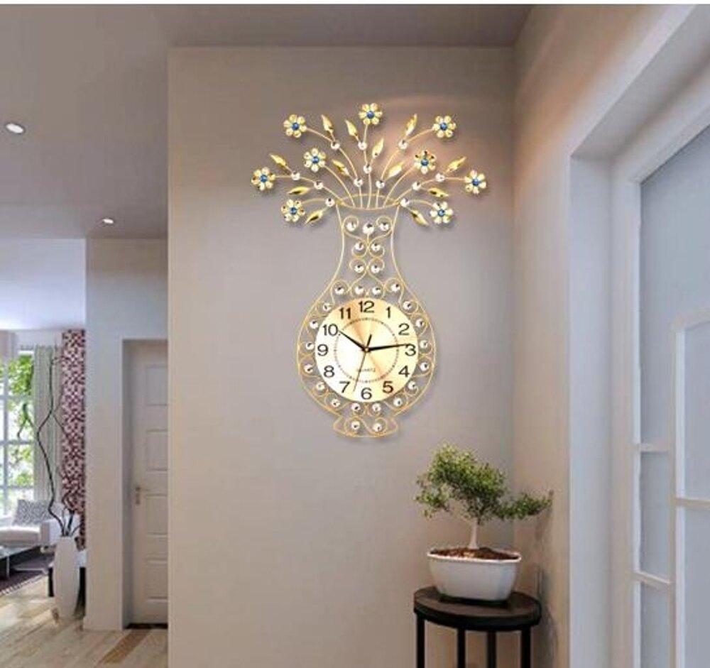 喬希鐘錶掛鐘客廳現代簡約鐘歐式創意時鐘靜音掛錶夜光臥室石英鐘     【歡慶新年】