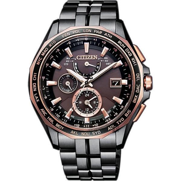 【CITIZEN】星辰 光動能電波鈦金屬腕錶-咖啡x黑/43mm(AT9096-73E) [限量款]。