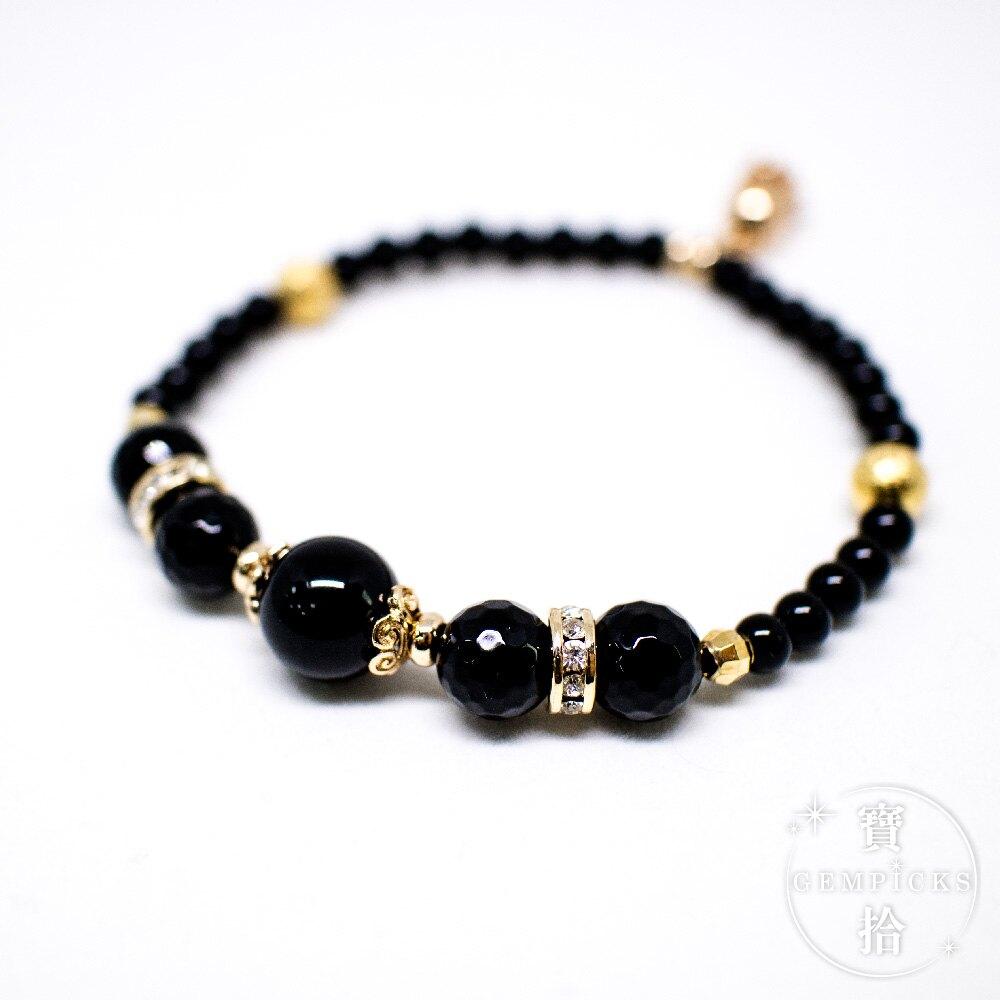 #4 黑曜石瑪瑙 手珠款|Obsidian Bracelet 8MM for Numerology #4 (現貨+預購)