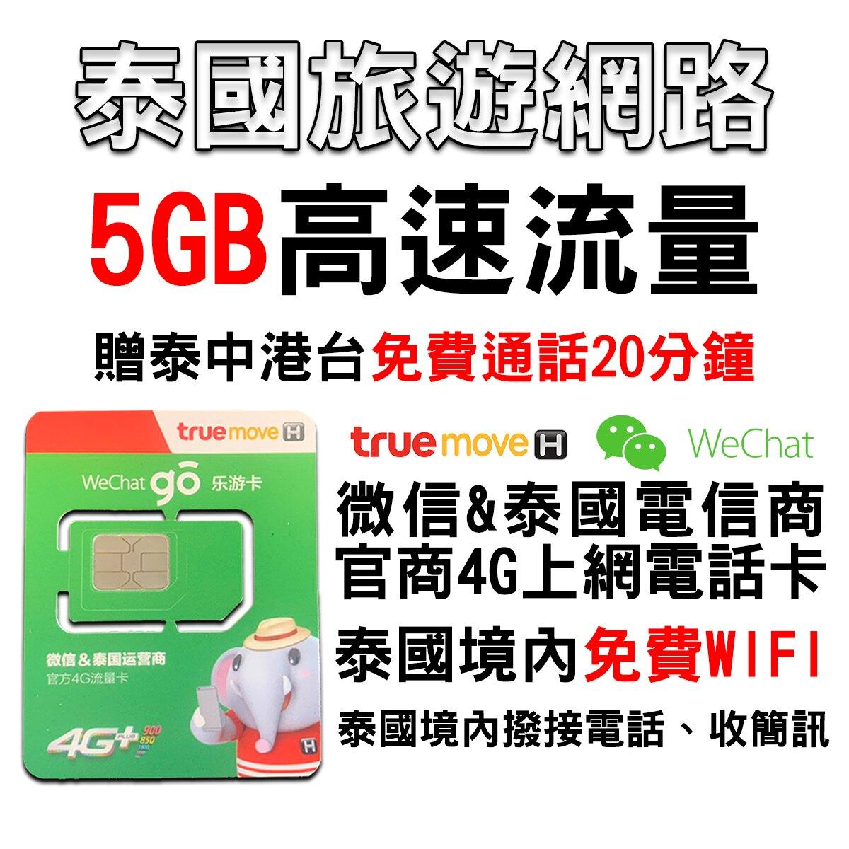 泰國原生卡 4G網路卡 通話網路 樂游卡True Move 曼谷/清邁/芭達雅/普吉島上網 可打電話