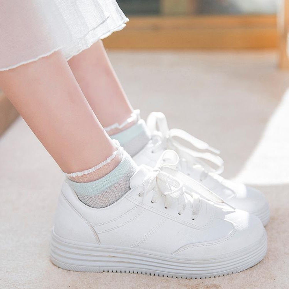 襪子女短襪韓國可愛船襪純棉女襪夏季女士襪薄款低筒蕾絲花邊日繫 清涼一夏钜惠