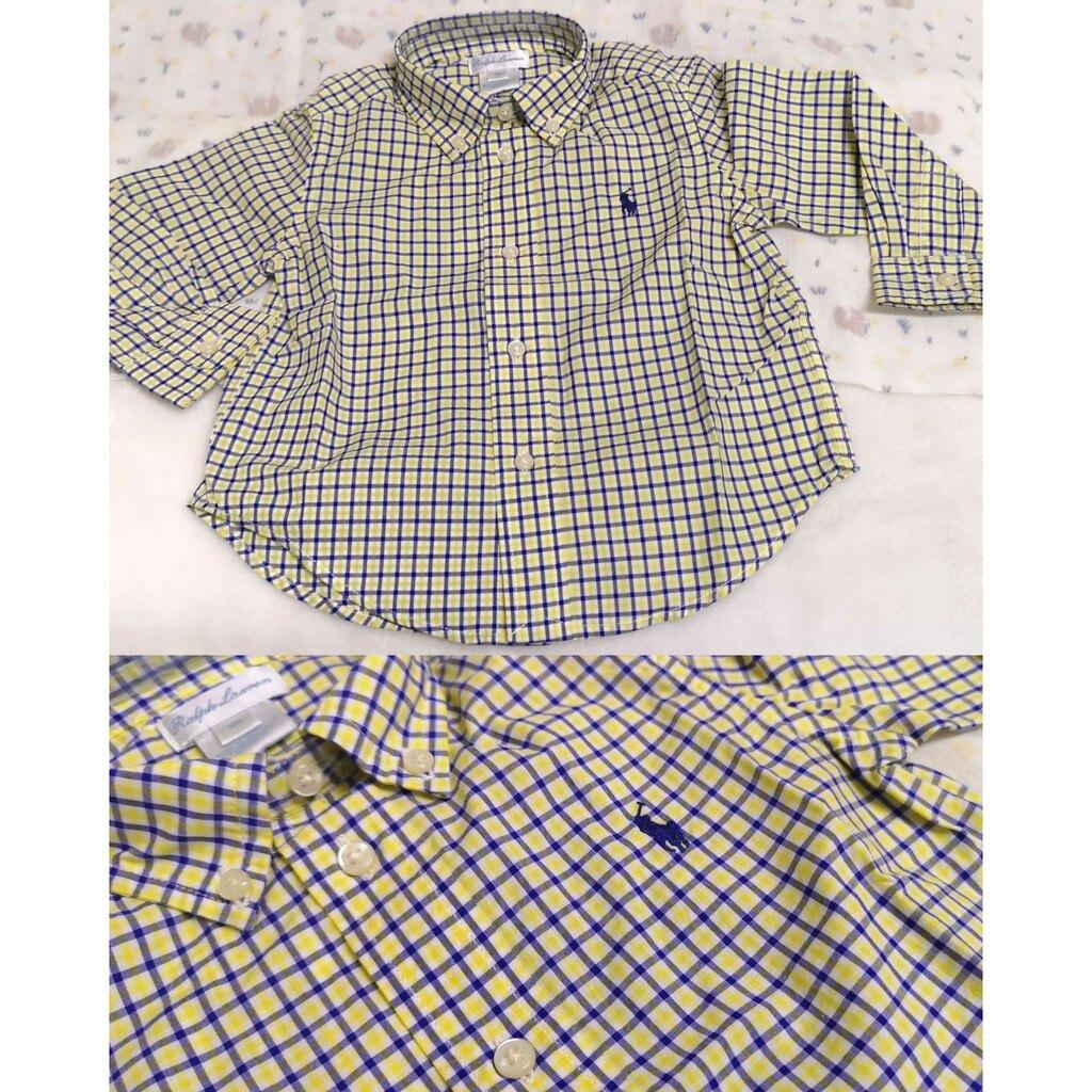 美國 RL Polo 男童 上衣/襯衫/格子襯衫 18M Ralph Lauren 小馬襯衫 Unicorn