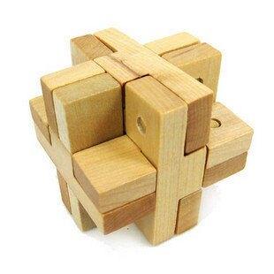 成人木制益智玩具 生日禮物 酒吧玩具 孔明鎖魯班鎖 靠攏