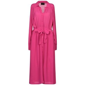 《セール開催中》ATOS LOMBARDINI レディース 7分丈ワンピース・ドレス フューシャ 42 レーヨン 100% / ポリエステル