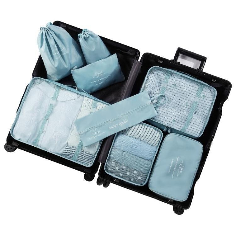 原設旅行收納袋套裝行李箱衣服整理包旅游防水內衣物收納包束口袋
