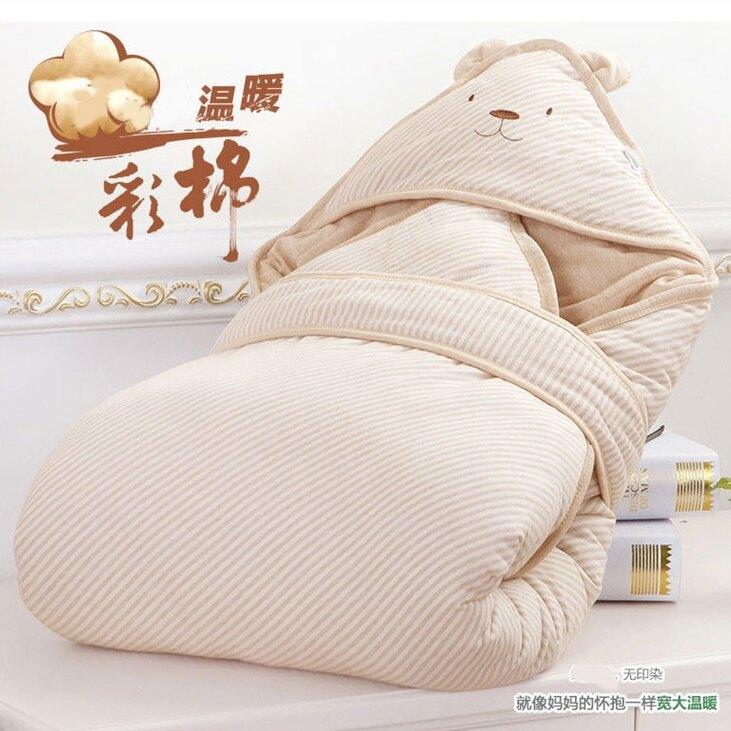 新生兒嬰兒抱被包被秋冬寶寶抱毯純棉可脫內膽春秋彩棉襁褓包巾 全館八八折
