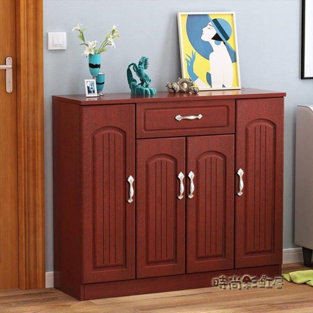 歐式鞋櫃簡約現代門廳櫃經濟型實木客廳玄關櫃多功能組裝簡易鞋架MBS「時尚彩虹屋」