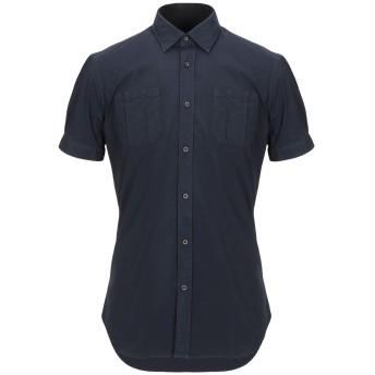 《セール開催中》TAKESHY KUROSAWA メンズ シャツ ダークブルー S コットン 97% / ポリウレタン 3%