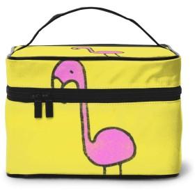 メイクポーチ 化粧ポーチ コスメバッグ バニティケース トラベルポーチ フラミンゴ 雑貨 小物入れ 出張用 超軽量 機能的 大容量 収納ボックス