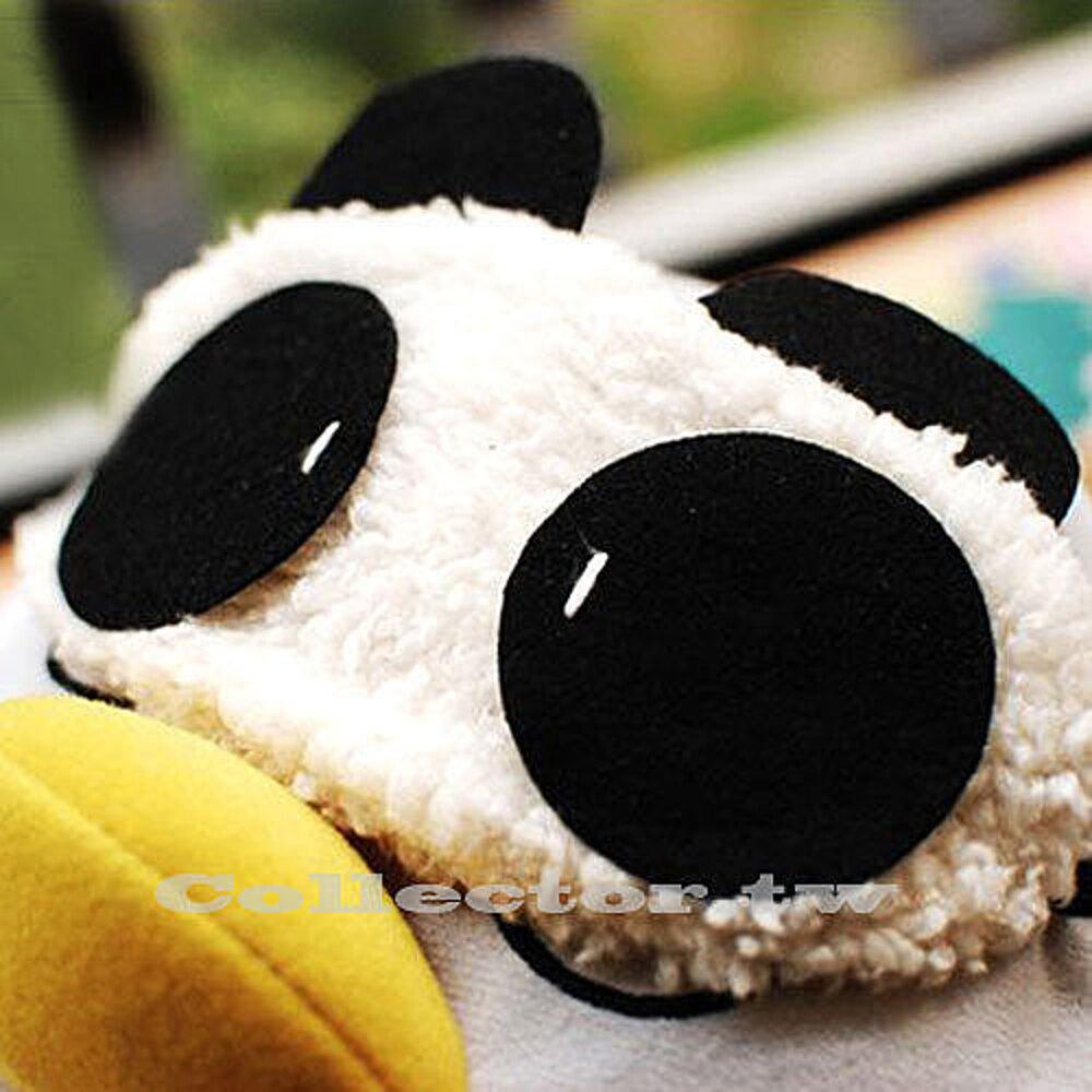 ✤宜家✤韓版可愛熊貓眼罩 毛絨熊貓睡眠眼罩