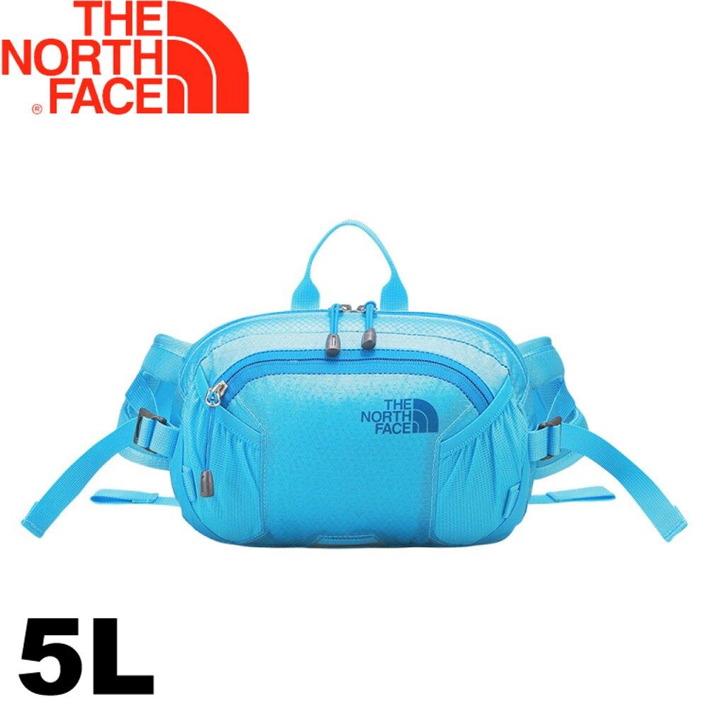 【The North Face 美國 5L 戶外多功能腰包《天空藍》】CA6Y/運動腰包/旅遊腰包/腰包