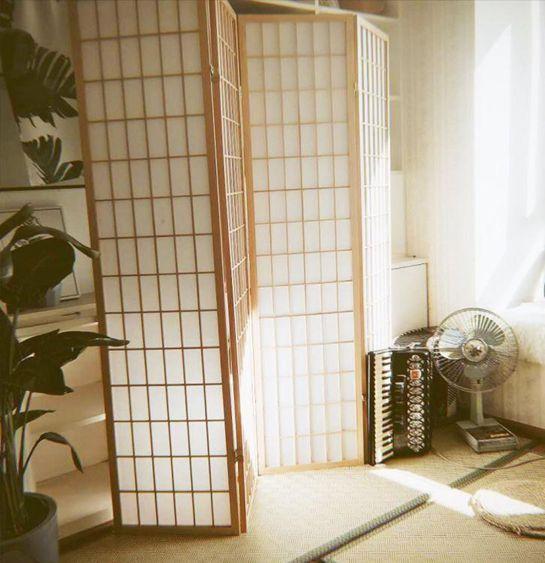 日式樟子格無紡布實木屏風玄關酒店摺疊隔斷攝影棚直播背景茶室