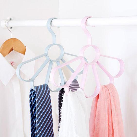 3個裝 圈圈圍巾架腰帶收納掛架領帶架 圍巾架子衣架收納架絲巾架