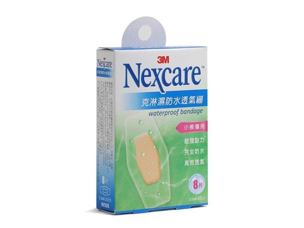 3M Nexcare 克淋濕防水透氣繃(中8片/3.0x6.3 cm) ok蹦