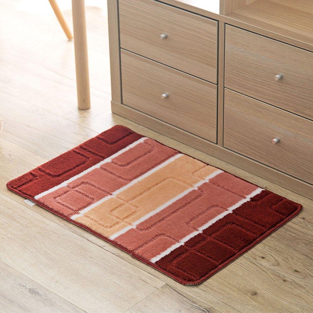 ✤宜家✤時尚創意地墊188 廚房浴室衛生間臥室床邊門廳 吸水長條防滑地毯(40*60cm)