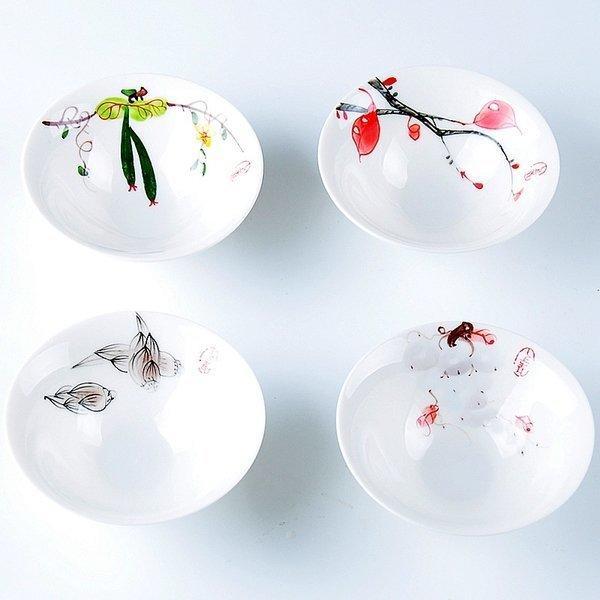 德商 陶瓷茶杯套裝 手繪青花瓷茶杯品茗杯日式功夫茶具普洱茶杯子(一個價)(圖一)