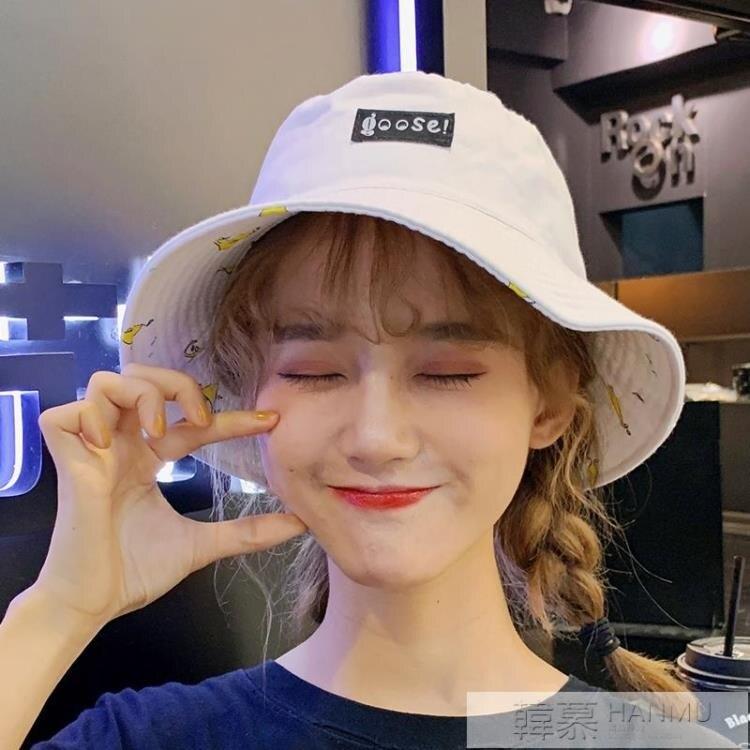 帽子女夏天韓版百搭日系漁夫帽遮陽防曬甜美可愛軟妹ins雙面時尚