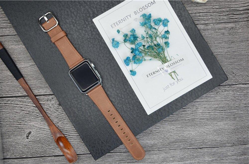 蘋果錶帶星圖軟真皮蘋果AppleWatch手錶帶iWatch1/2/3/4代星河光年 清涼一夏钜惠