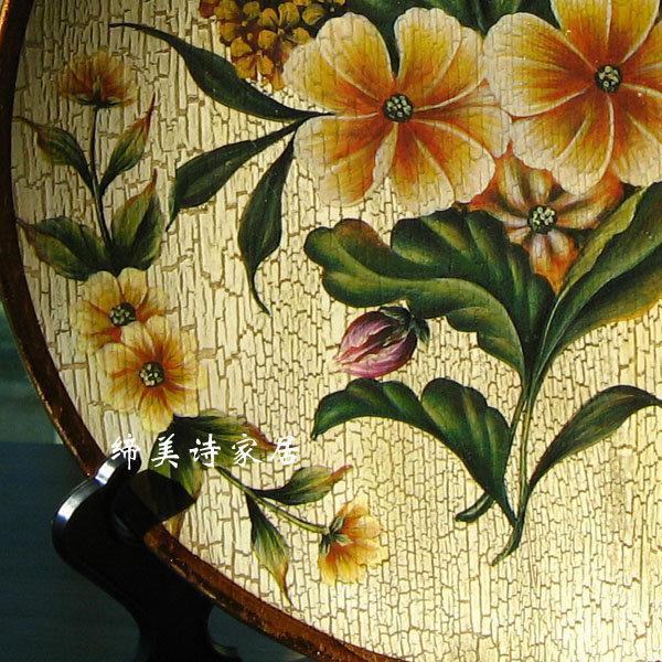 歐式擺盤田園彩繪陶瓷 裝飾盤 掛盤 家居飾品 BP029