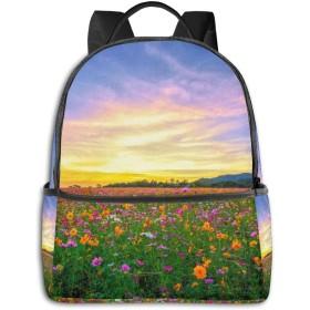 ファッションミニ旅行バックパック、十代の少年少女女性男性-風景自然のためのかわいい学校のショルダースクールバッグ