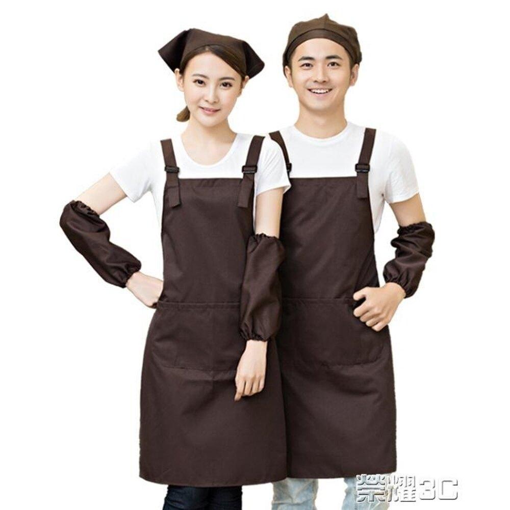 圍裙 廣告圍裙定制logo正韓時尚火鍋店水果店超市工作服圍腰女印字 清涼一夏特價