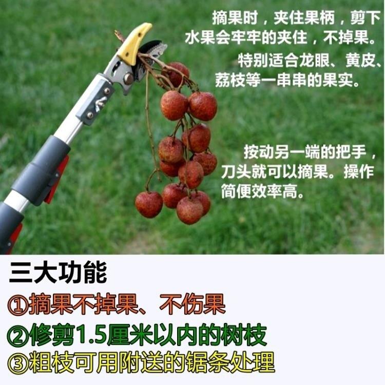 日式伸縮3米4米高枝剪鋸高空剪摘果器采果龍眼剪蘋果柿子修枝 清涼一夏特價