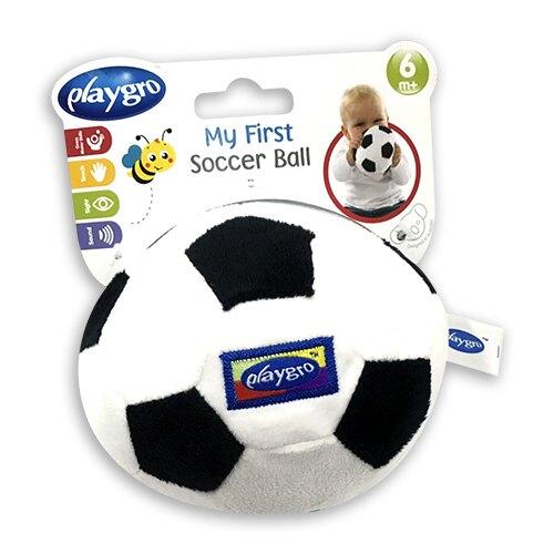 Playgro 小足球布質玩具-黑★衛立兒生活館★