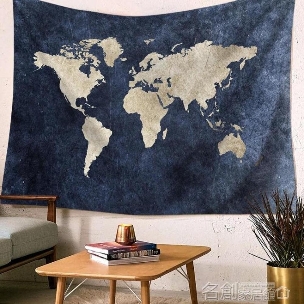 外貿出口地圖鮮花掛布掛毯沙灘巾沙髮巾背景布桌布窗簾墻壁裝飾簾150*200 名創家居館