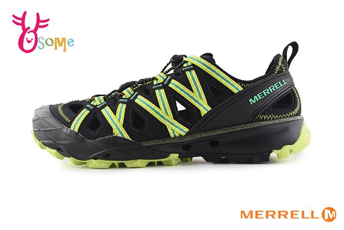 MERRELL CHOPROCK 成人男款 速乾 專業登山溯溪 黃金大底 水陸兩棲 運動涼鞋 H8371#黑綠◆OSOME奧森鞋業