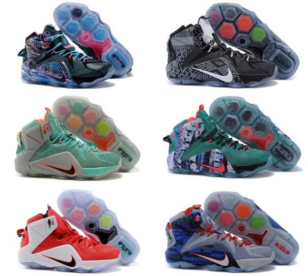 詹姆斯11代籃球鞋鴛鴦版全明星夜光 13 男女鞋高幫戰靴