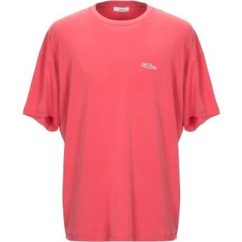 《セール開催中》WE11 DONE メンズ T シャツ レッド XL レーヨン 71% / ポリエステル 24% / ポリウレタン 5%
