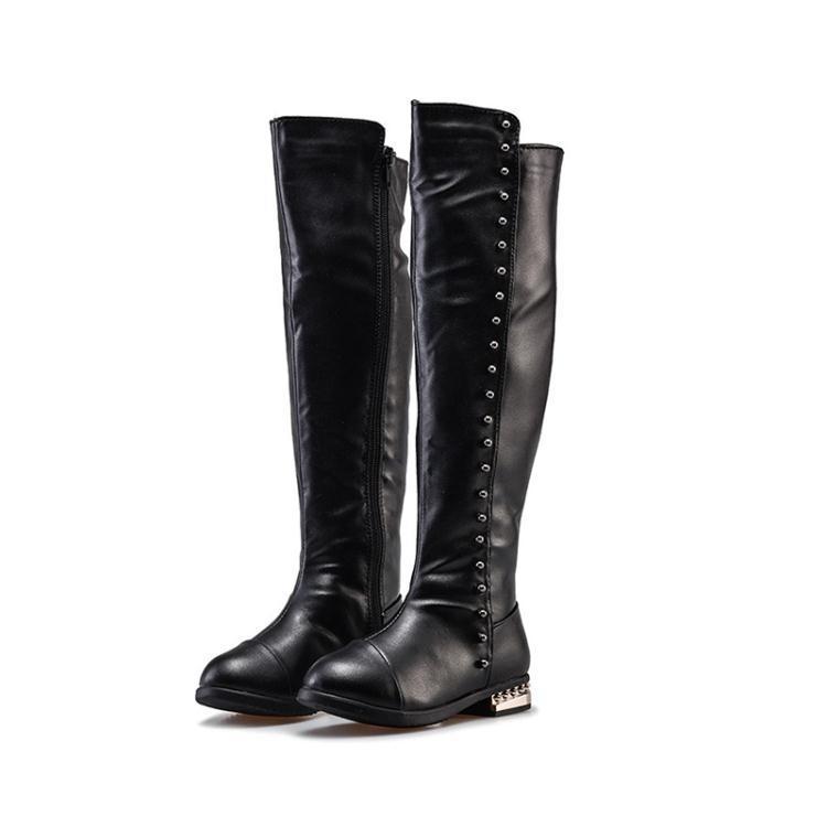 女童冬季公主中大童韓版時尚過膝保暖高筒靴xx9673【每日三C】