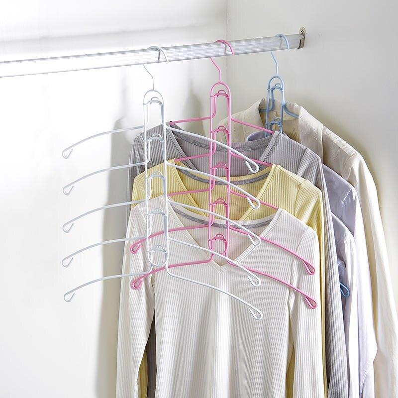 多層鐵藝衣架 家用衣柜掛衣架 多功能衣服架子晾衣架衣撐子衣服1入
