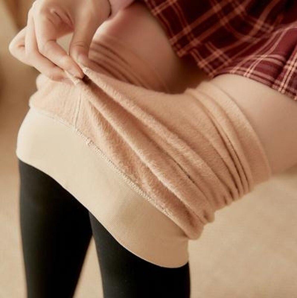 絲襪日繫拼接絲襪女春秋款中厚防勾絲假大腿襪薄絨假高筒連褲襪秋冬 清涼一夏特價