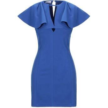 《セール開催中》GALLE Paris レディース ミニワンピース&ドレス ブルー 42 レーヨン 65% / ナイロン 30% / ポリウレタン 5%