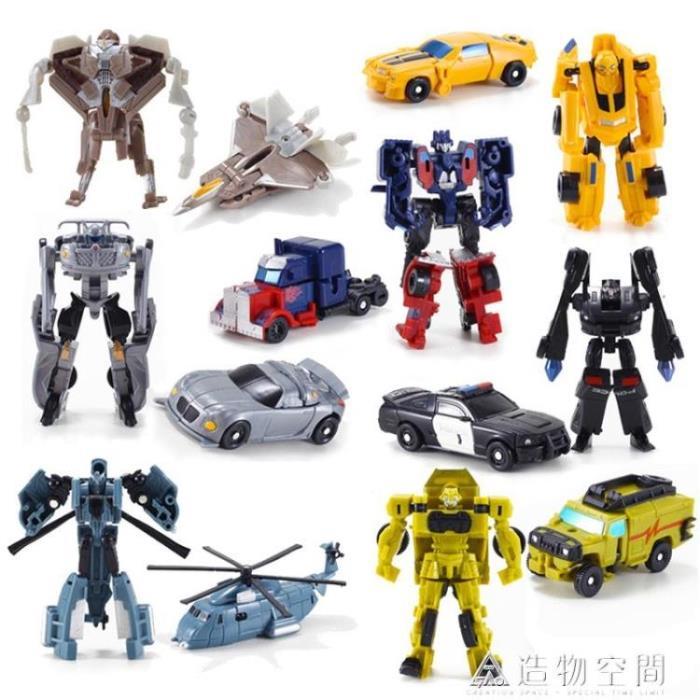 變形玩具金剛迷你大黃蜂小汽車機器人全套模型套裝男孩蒙巴迪手動