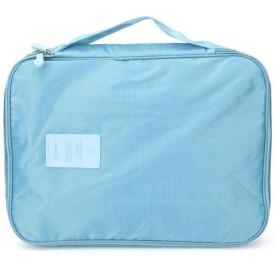 Charging Treasure Storage Bag 旅のシャツネクタイ仕分けポーチジッパーオーガナイザー防水ナイロン高校キャリバー収納袋 (色 : Sky Blue)