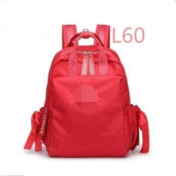 ナイロンバックパック女性2019新ワイルドソリッドカラー高校生バッグ旅行バックパックコンピュータ、L60,13インチ