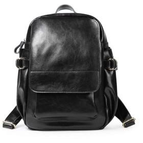 空のバックパックの革のハンドバッグの革のショルダーバッグの女性の大量,黒