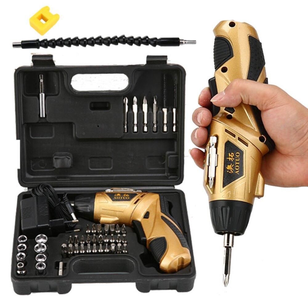 家用電動螺絲刀充電式電起子手電鑚迷你螺絲批螺絲刀工具套裝   全館八五折
