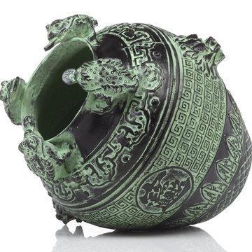 吉善緣 青銅器擺件 金蟾獅頭壇 招財旺財工藝品 儲錢罐存錢罐2944