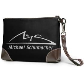 Michael Schumacher ミハエル シューマッハ クラッチバッグ メンズ レディース セカンドバッグ ハンドバック バッグインバッグ ジッパー ポーチ 大きい財布 おしゃれプリント 小銭入れ ビジネスカ 通勤 アウトドア